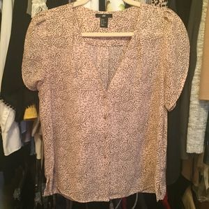 H&M Perfect Pink Speckled Blouse